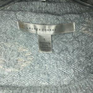 LC Lauren Conrad Sweaters - Lauren Conrad Large Blue/White Polka Dot Sweater